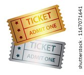 gold and silver cinema tickets... | Shutterstock . vector #1167071641