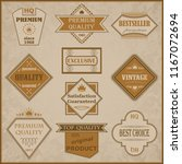 set of premium quality labels.... | Shutterstock . vector #1167072694