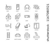 set of 16 simple line icons... | Shutterstock .eps vector #1167080521