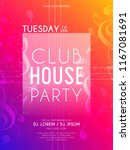 innovative party flyers with... | Shutterstock .eps vector #1167081691