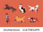 collection of funny disabled... | Shutterstock .eps vector #1167081694