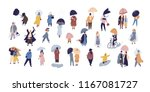 collection of people walking... | Shutterstock .eps vector #1167081727