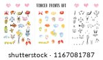 collection of colorful... | Shutterstock .eps vector #1167081787
