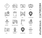 set of 16 simple line icons...   Shutterstock .eps vector #1167082084