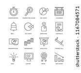 set of 16 simple line icons... | Shutterstock .eps vector #1167084571