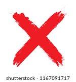 grunge letter x.vector x mark. | Shutterstock .eps vector #1167091717