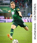 Small photo of Wolfsburg, Germany, August 11, 2018: soccer player Yannick Gerhardt in action during a match at Volkswagen Arena on 2018 - 2019 season.