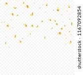 golden tiny confetti falling on ... | Shutterstock .eps vector #1167092854