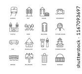 set of 16 simple line icons... | Shutterstock .eps vector #1167093697