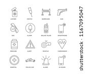 set of 16 simple line icons... | Shutterstock .eps vector #1167095047