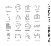 set of 16 simple line icons... | Shutterstock .eps vector #1167096997