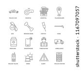set of 16 simple line icons... | Shutterstock .eps vector #1167097057