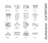 set of 16 simple line icons... | Shutterstock .eps vector #1167097684