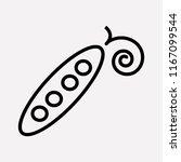 pea pods icon line element.... | Shutterstock .eps vector #1167099544