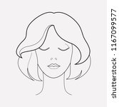 short hairstyle icon line... | Shutterstock .eps vector #1167099577