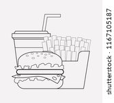 cheat meal icon line element.... | Shutterstock .eps vector #1167105187