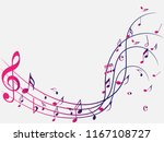 colorful abstract music notes... | Shutterstock .eps vector #1167108727