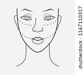 facial plastic surgery icon...   Shutterstock .eps vector #1167110317