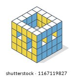 outlined minimalistic block... | Shutterstock .eps vector #1167119827
