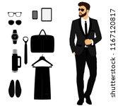 men's tuxedo. men's accessories....   Shutterstock .eps vector #1167120817