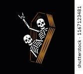 party skeletons in coffin black ...   Shutterstock .eps vector #1167123481