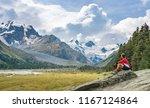 mountain landscape in the roseg ... | Shutterstock . vector #1167124864