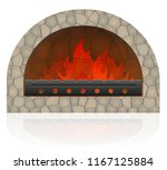 burning fire in the fireplace... | Shutterstock .eps vector #1167125884