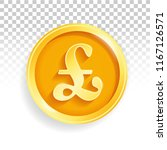 national currency gold coin... | Shutterstock .eps vector #1167126571