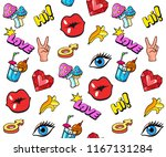 background with colorful pop... | Shutterstock .eps vector #1167131284