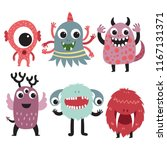 monster character collection... | Shutterstock .eps vector #1167131371