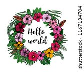 round garland with space for... | Shutterstock .eps vector #1167134704