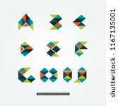 abstract colorful geometric... | Shutterstock .eps vector #1167135001