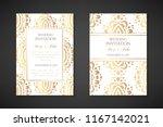 wedding invitation templates.... | Shutterstock .eps vector #1167142021