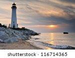 Crisp Point Lighthouse Sunset ...