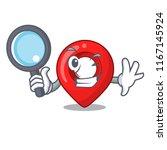 detective navigation pin... | Shutterstock .eps vector #1167145924