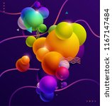 multicolored decorative balls.... | Shutterstock .eps vector #1167147484