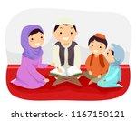 illustration of stickman family ... | Shutterstock .eps vector #1167150121