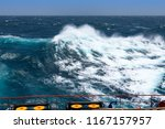big waves at open sea. summer... | Shutterstock . vector #1167157957