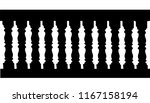 silhouette of a railing with... | Shutterstock .eps vector #1167158194