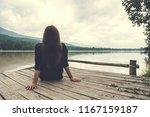 closeup image of an asian woman ... | Shutterstock . vector #1167159187