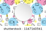 nail banner with doodle... | Shutterstock .eps vector #1167160561