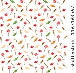 colorful pattern of sweets...   Shutterstock .eps vector #1167163567