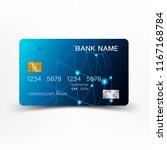 credit card blue on white... | Shutterstock .eps vector #1167168784