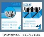 cover design brochure annual... | Shutterstock .eps vector #1167171181