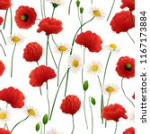 seamless pattern made of daisy... | Shutterstock .eps vector #1167173884