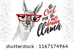 be cool says the no drama llama ... | Shutterstock .eps vector #1167174964