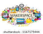 makerspace   steam education... | Shutterstock .eps vector #1167175444