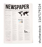 newspaper on white background   Shutterstock . vector #1167179224