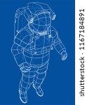 astronaut concept. vector... | Shutterstock .eps vector #1167184891
