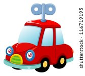 illustration of Toy car.Vector - stock vector